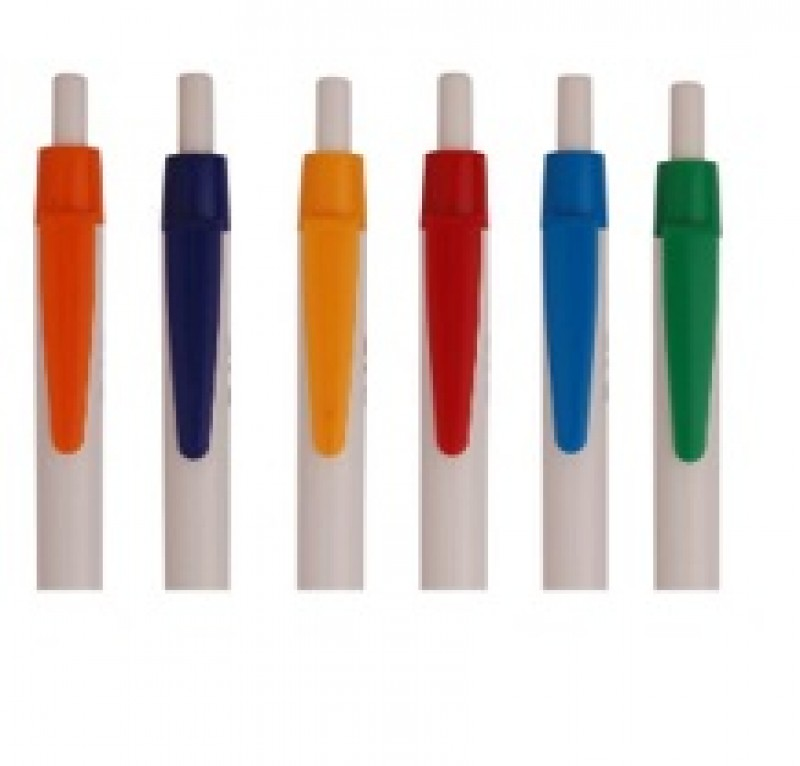 White body colour clip Pen