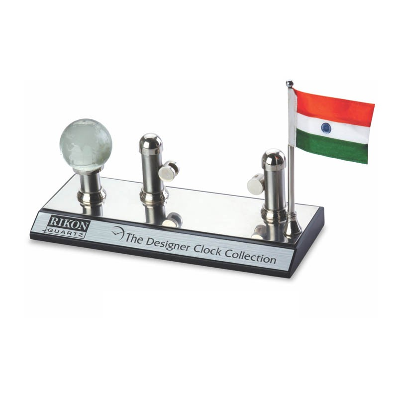 3 in 1 Name Card Holder, Flag, Globe