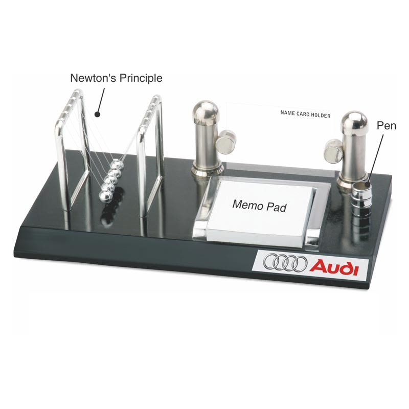 4 in 1 Newton's Principle, Pen, Memo Pad & Name Card Holder